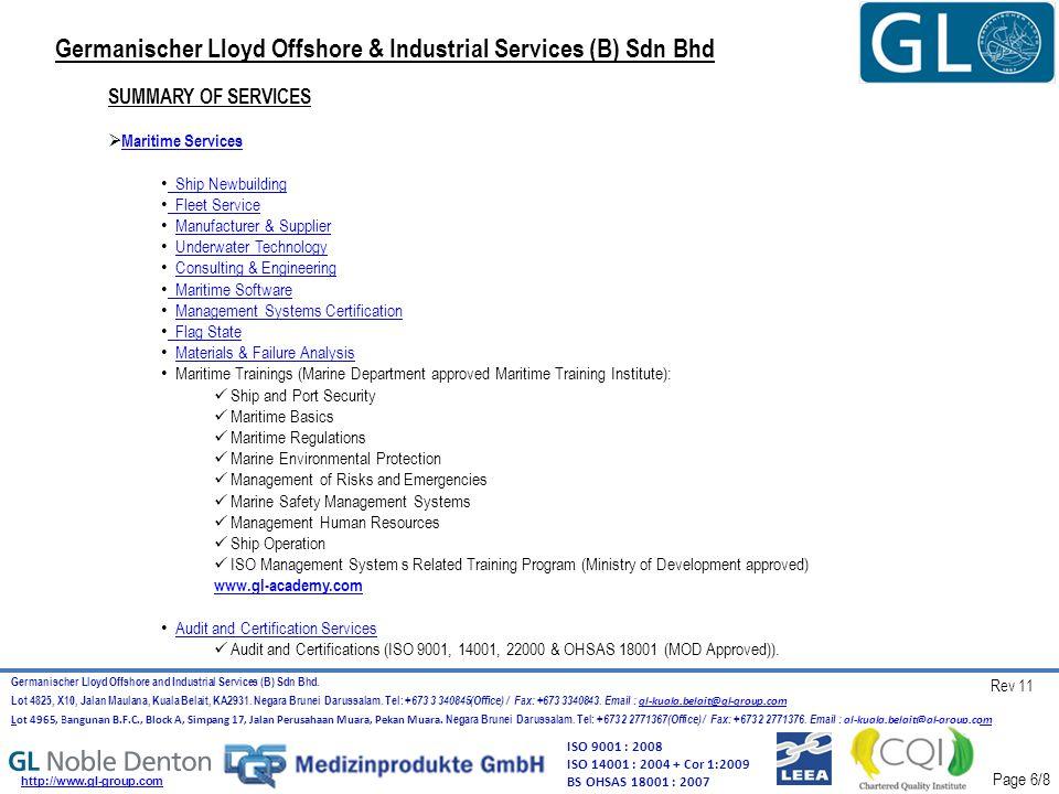 Germanischer Lloyd Offshore and Industrial Services (B) Sdn Bhd.