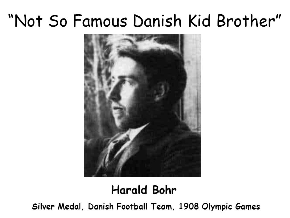 Not So Famous Danish Kid Brother Harald Bohr Silver Medal, Danish Football Team, 1908 Olympic Games