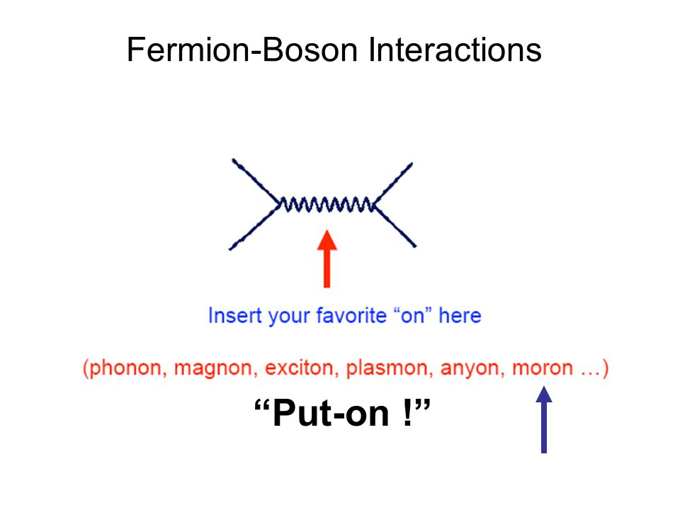 Put-on ! Fermion-Boson Interactions