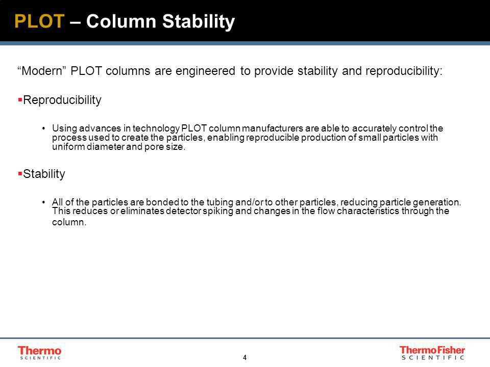 5 PLOT – Capillary Tubing Polyimide coating provides strength, flexibility and protection from stress corrosion caused by exposure to moisture Fused silica tubing Control of the Fused Silica dimensions is imperative to the performance of the GC column ID OD Shape Surface Activity