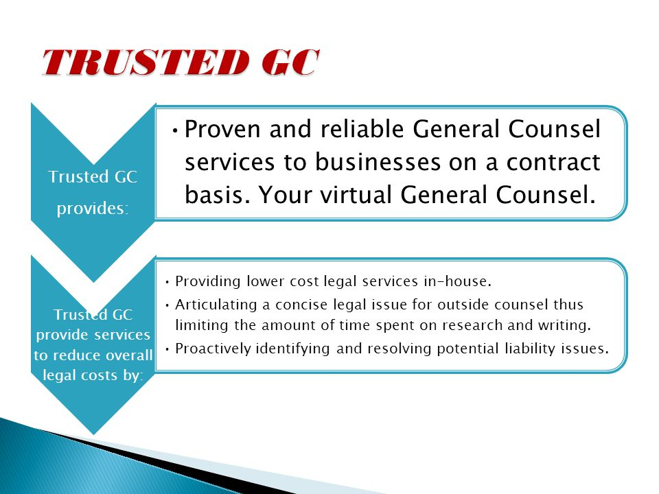 In-house counsel for 21 years.Track record of reducing overall legal fees for each client.