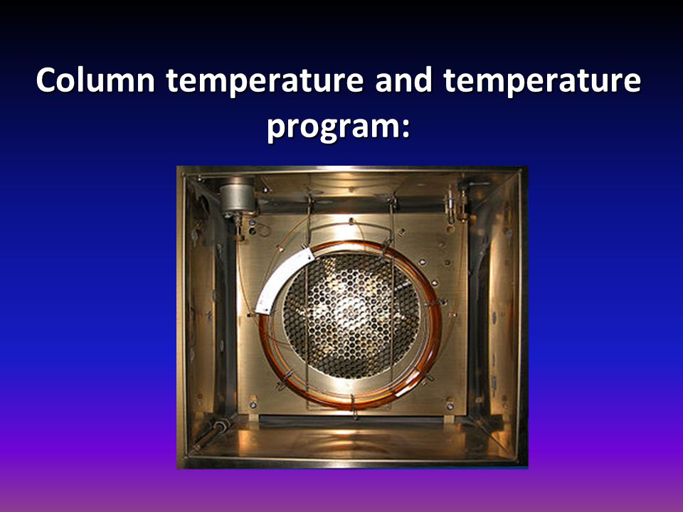 Column temperature and temperature program: