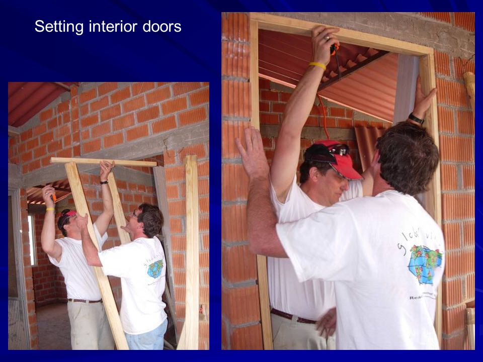 Setting interior doors