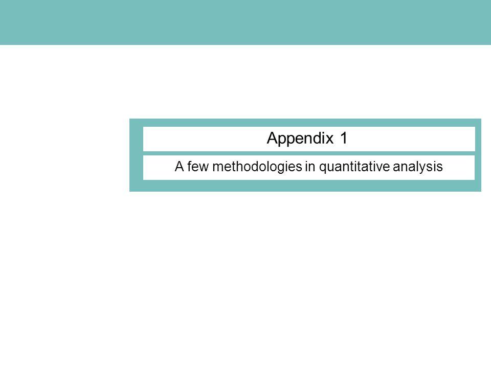 Appendix 1 A few methodologies in quantitative analysis