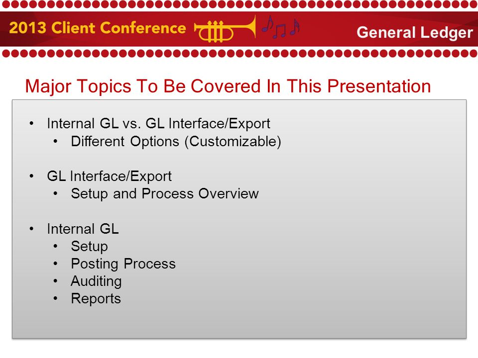 Major Topics To Be Covered In This Presentation Internal GL vs.