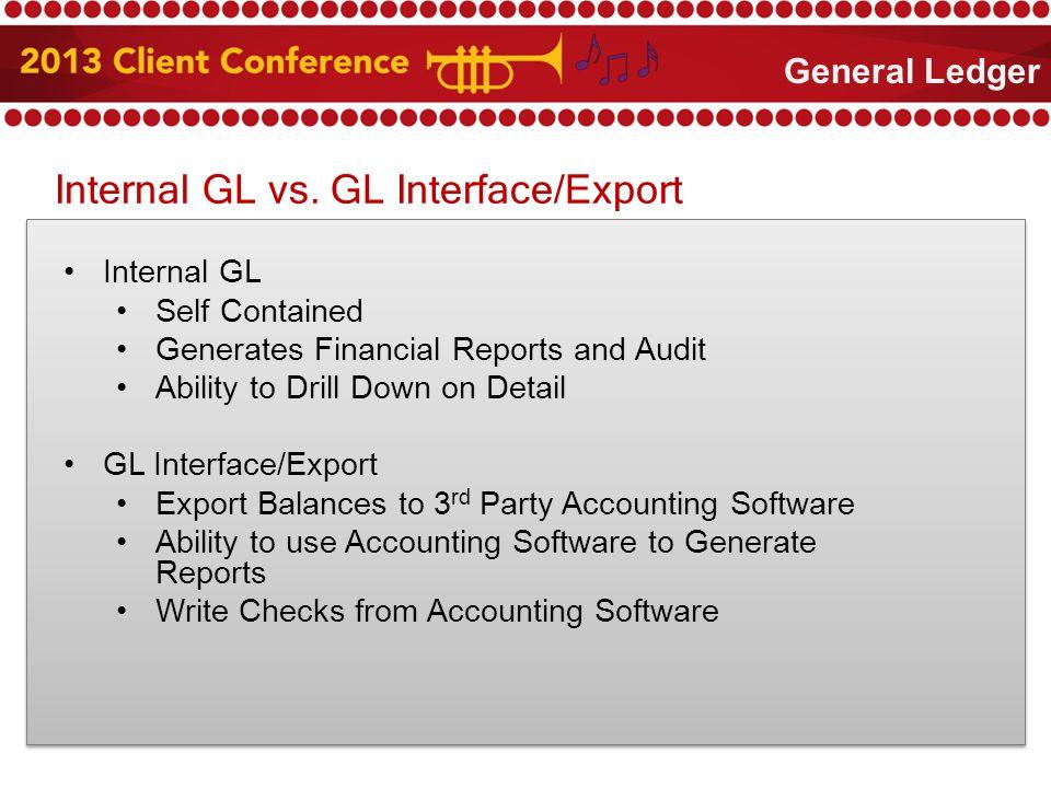 Internal GL vs.