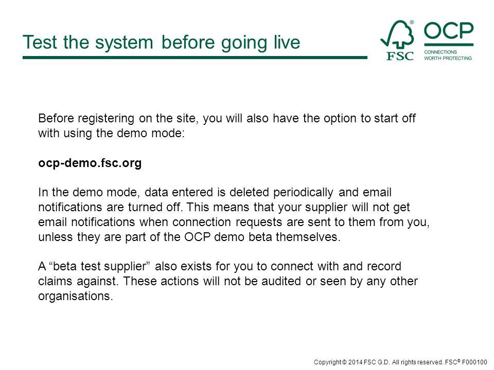 www.fsc.org Forest Stewardship Council ® Charles-de-Gaulle-Str.