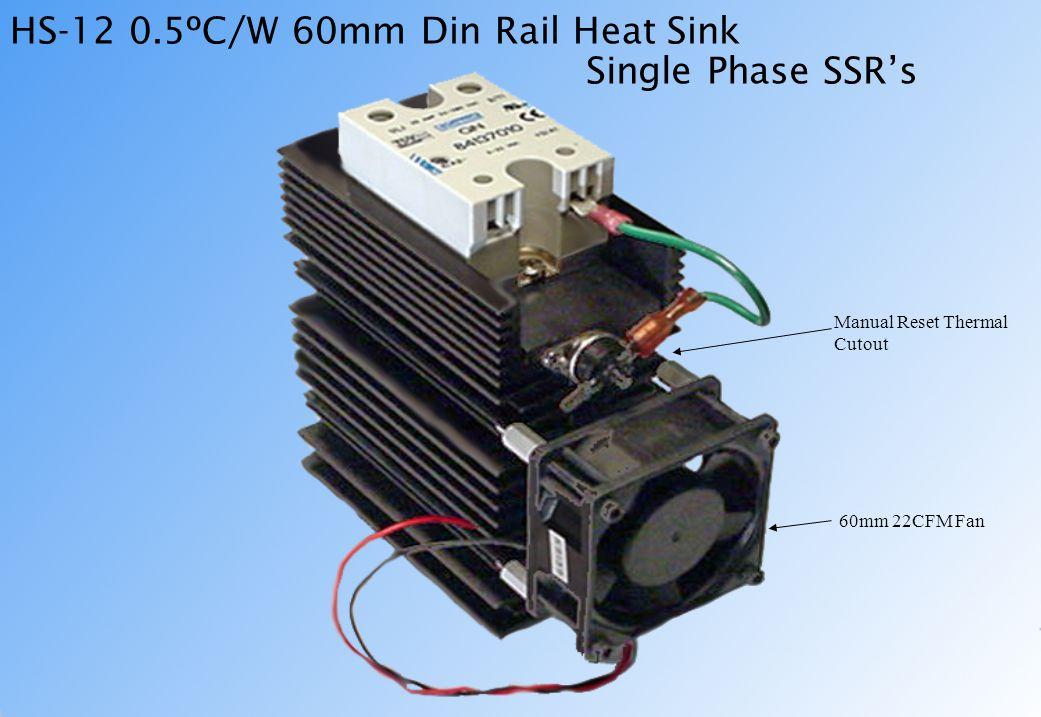 HS-9 1.3ºC/W 90mm Din Rail Heat Sink 1-2 Single Phase SSR's