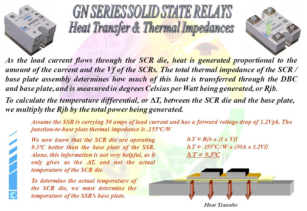 SSR BASE PLATE; Transfers the heat generated by the SCR die to the heat sink.