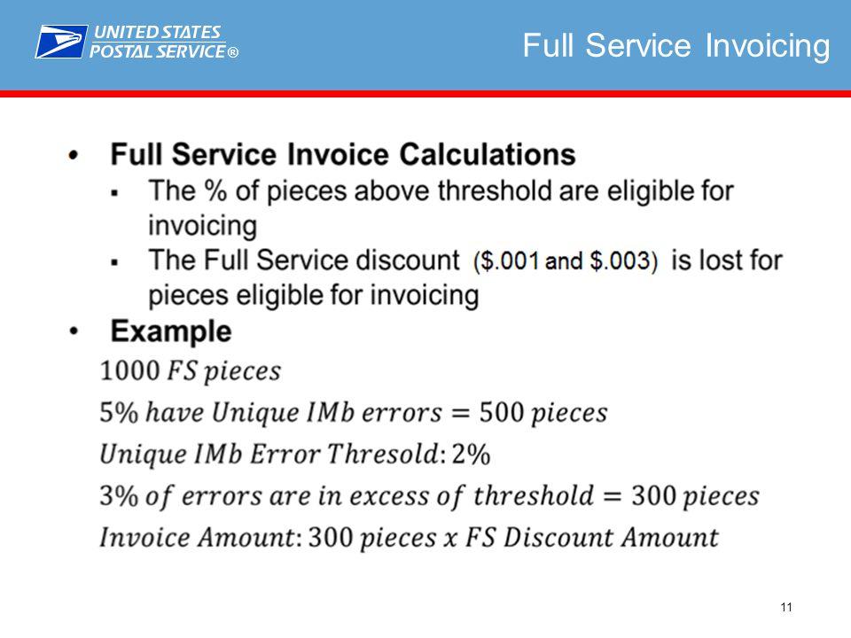 ® 11 Full Service Invoicing