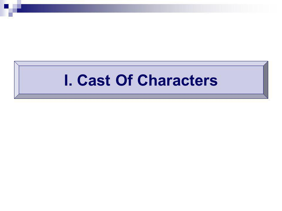 I. Cast Of Characters