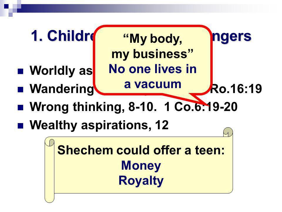 1.Children: recognize dangers Worldly associations, 1.