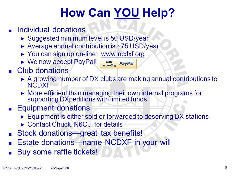 9 How Can YOU Help.