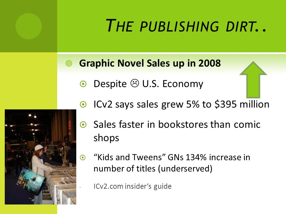 T HE PUBLISHING DIRT..  Graphic Novel Sales up in 2008  Despite  U.S.
