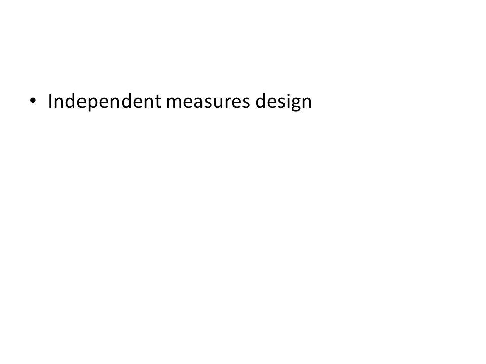 Independent measures design