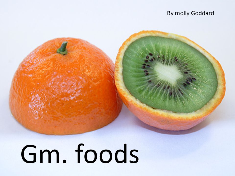 Gm-foods genetically modified foods By molly grace goddard By molly Goddard Gm. foods