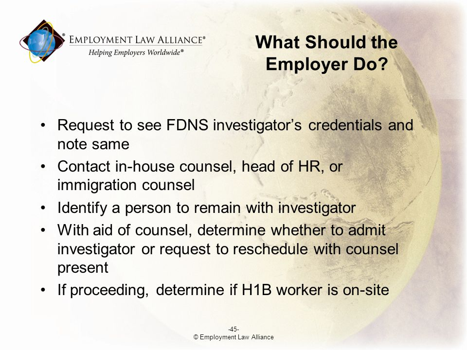 What Should the Employer Do.