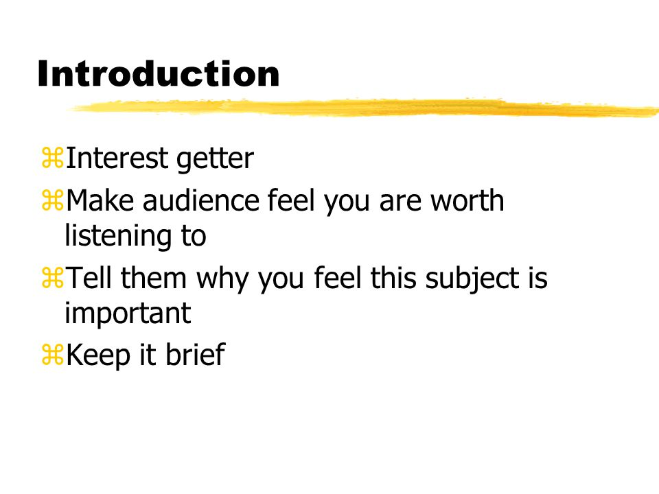 Body zAction part of your presentation zOne step at a time zDescribe what you are doing when you do it zKeep it simple and neat zUse visual aids to assist you zInclude interesting information to fill in empty time gaps