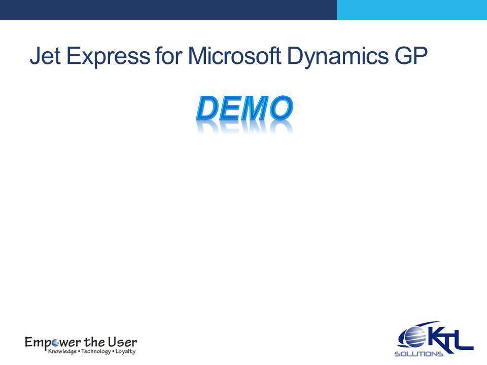 Jet Express for Microsoft Dynamics GP