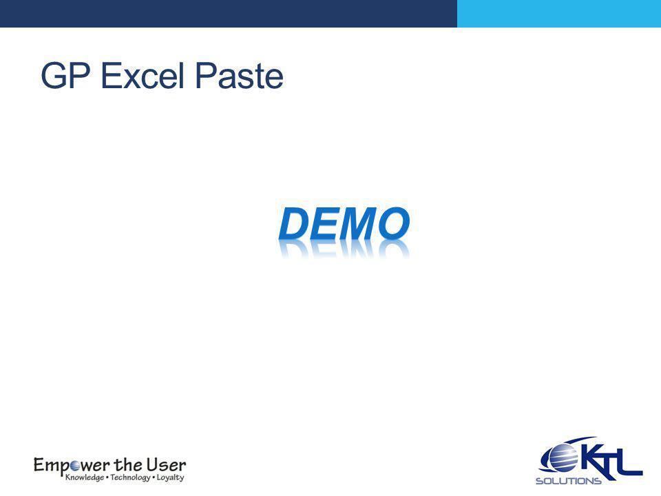 GP Excel Paste