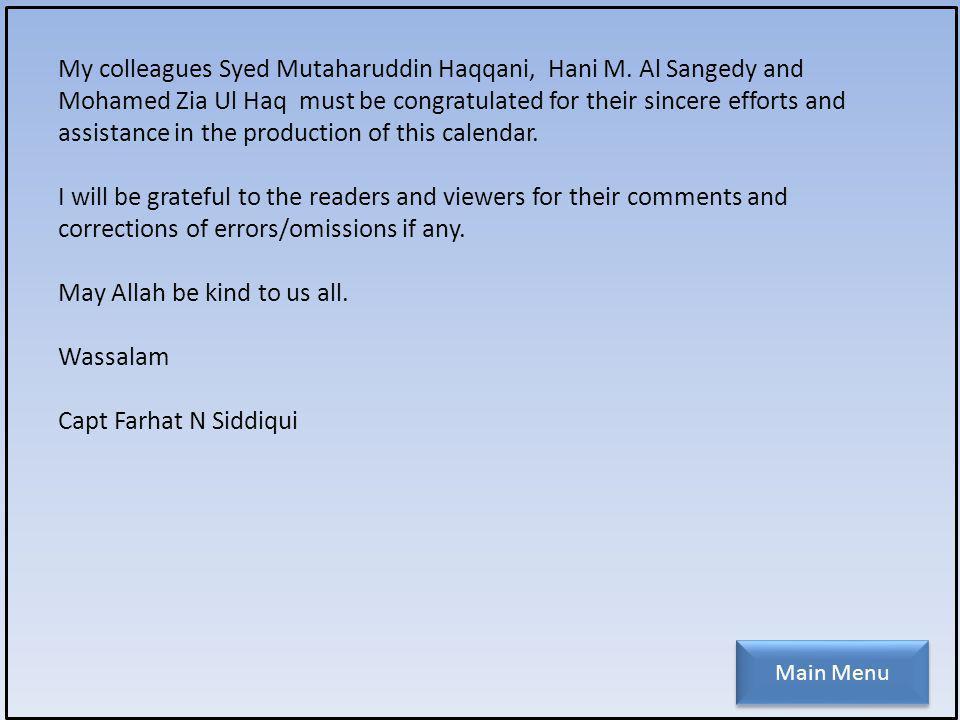 My colleagues Syed Mutaharuddin Haqqani, Hani M.