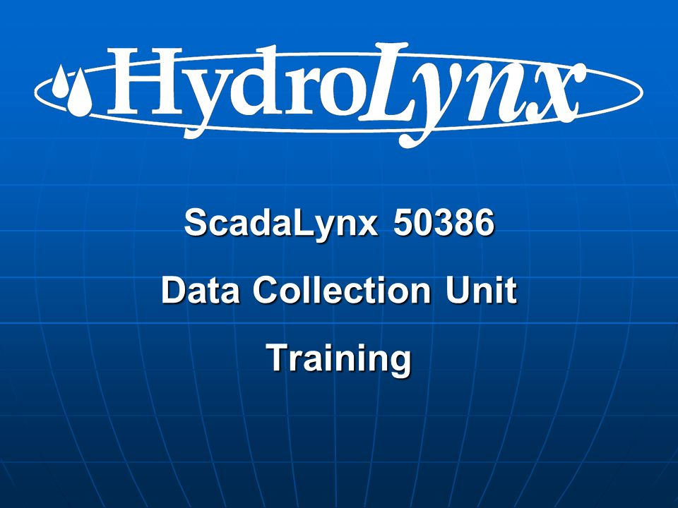 ScadaLynx 50386 Data Collection Unit Training