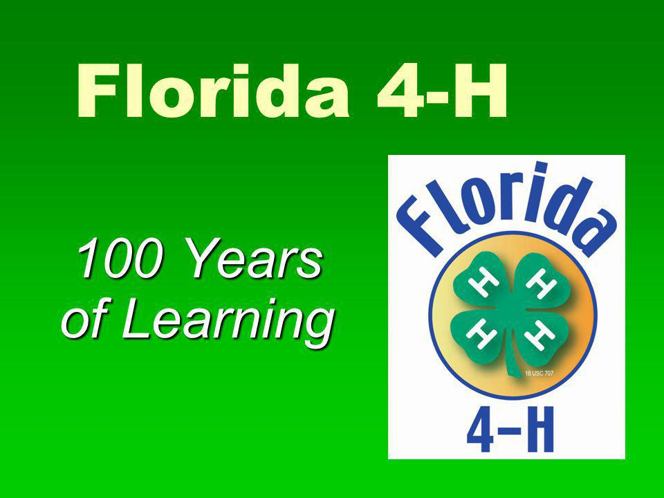 Florida 4-H 100 Years of Learning