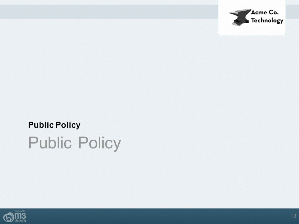 Public Policy 18