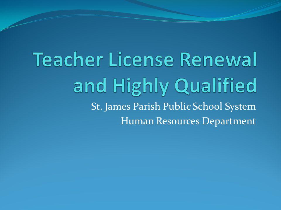 St. James Parish Public School System Human Resources Department