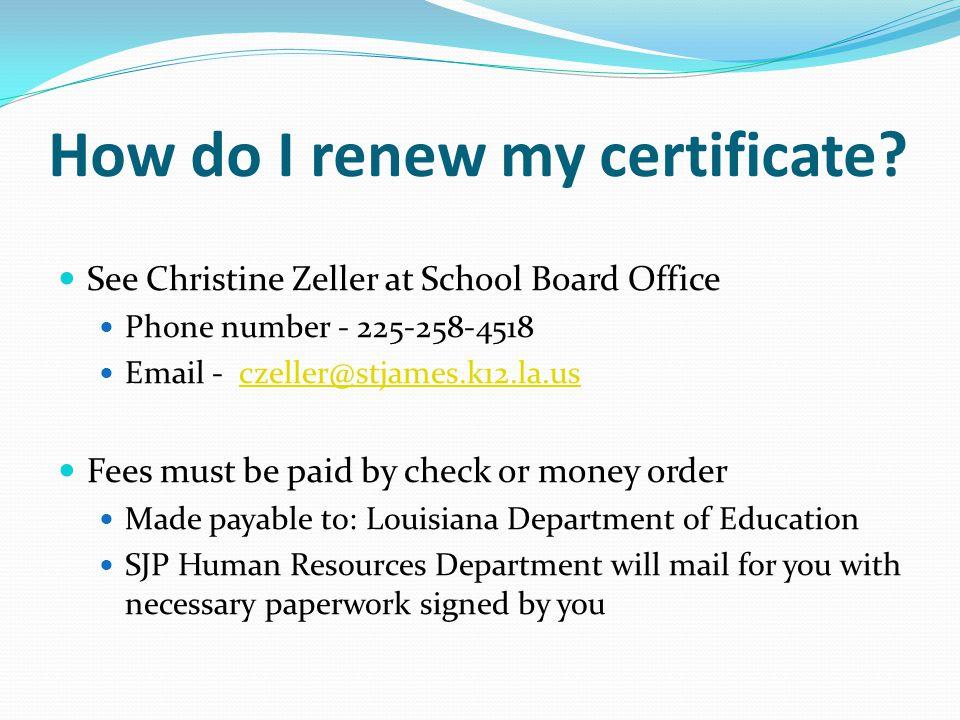 How do I renew my certificate.