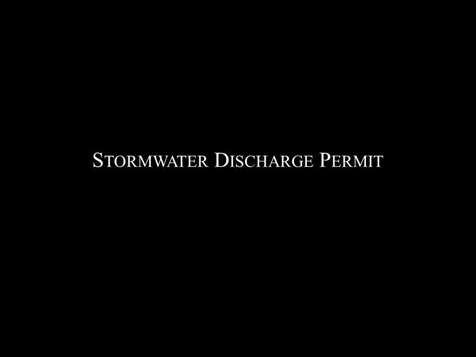 S TORMWATER D ISCHARGE P ERMIT