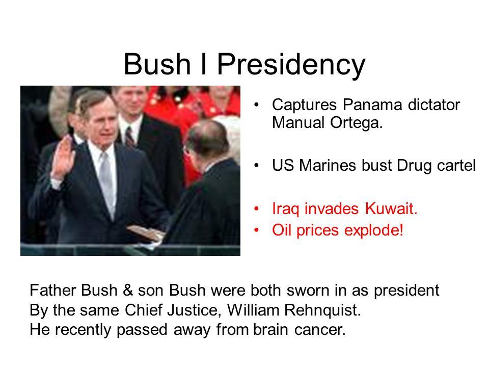 Bush I Presidency Captures Panama dictator Manual Ortega.