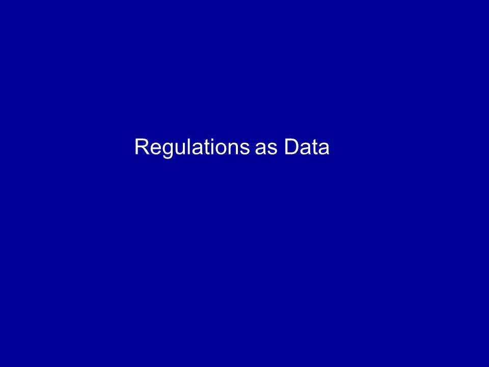 Regulations as Data