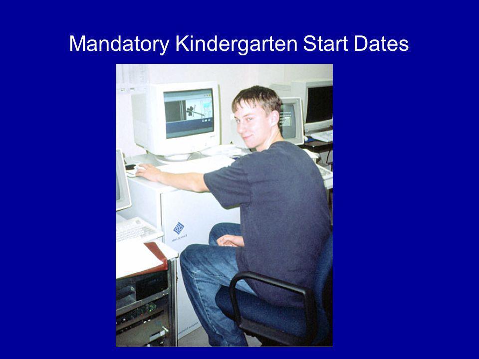 Mandatory Kindergarten Start Dates