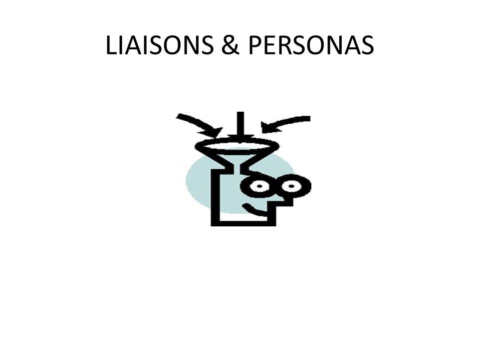 LIAISONS & PERSONAS