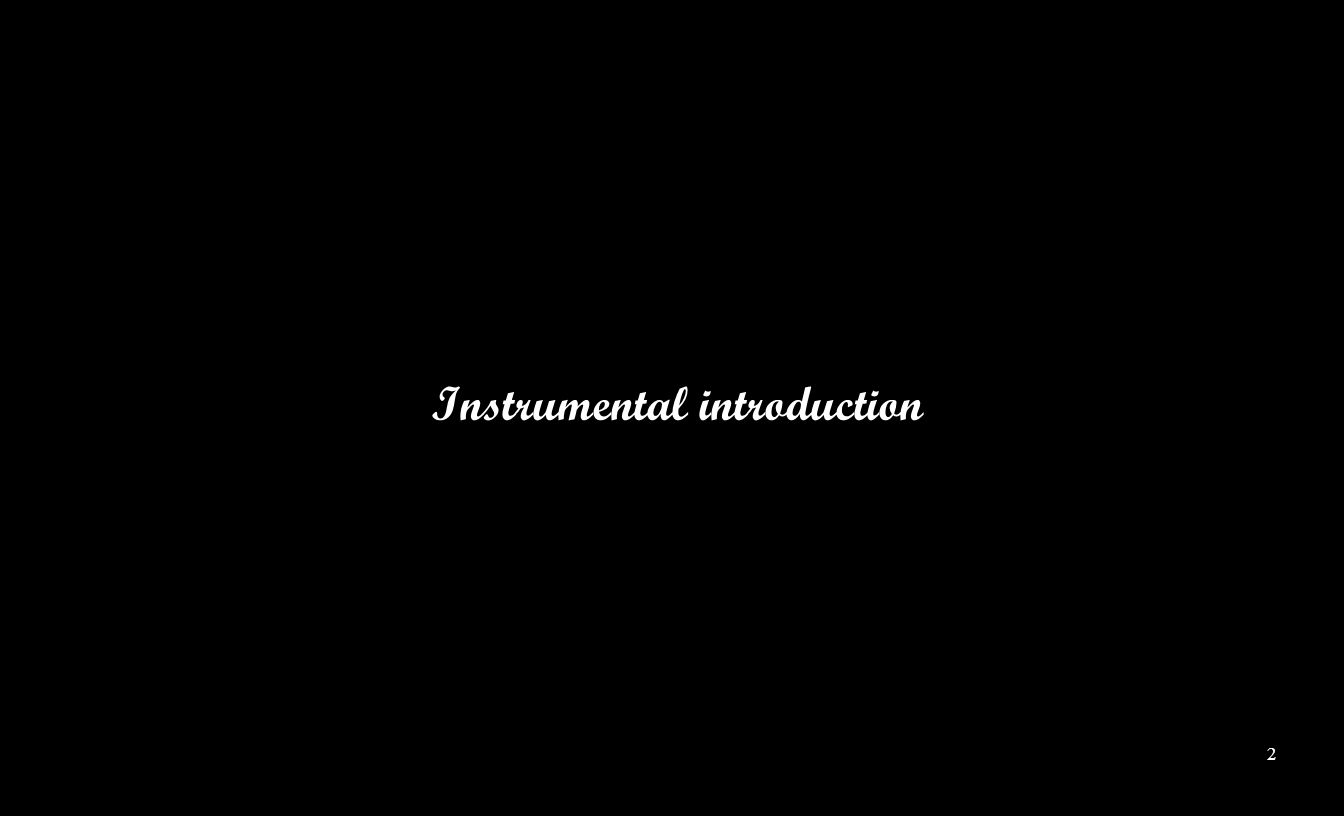 Instrumental introduction 2