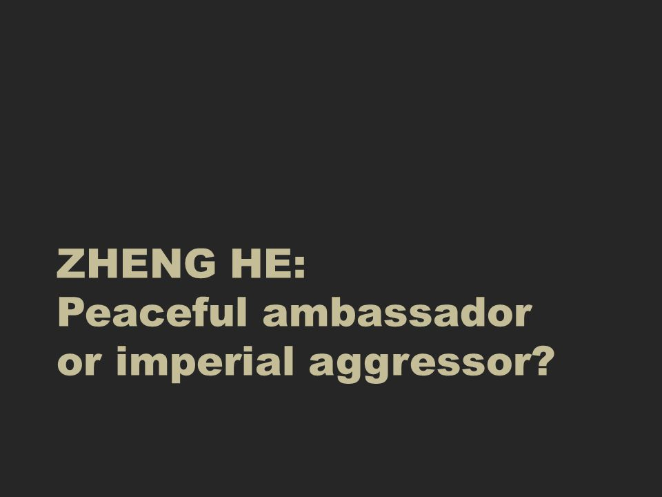 The emperor who first sent Zheng He out was also spending lots of money Building a new capital in Beijing.