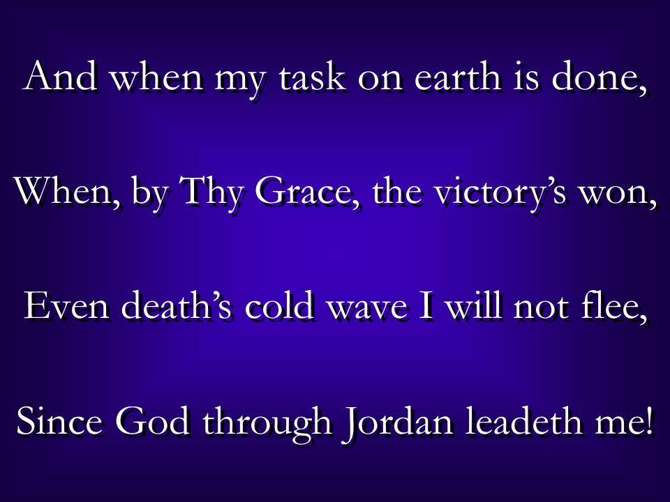 He leadeth me, By His own hand He leadeth me: He leadeth me, By His own hand He leadeth me: