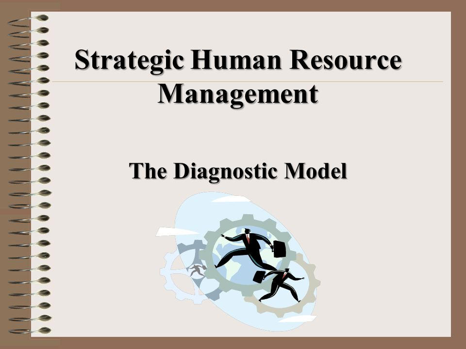 Strategic Human Resource Management The Diagnostic Model