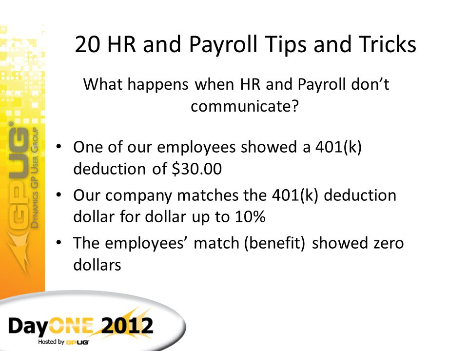 20 HR and Payroll Tips and Tricks Husband Wife What are HR and Payroll like?