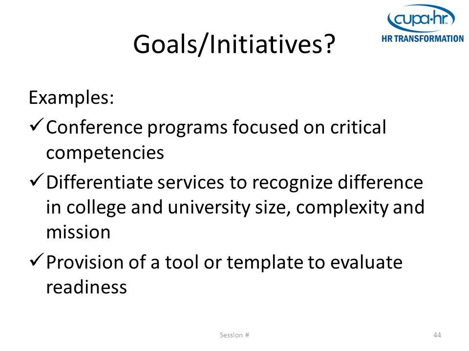 Goals/Initiatives.