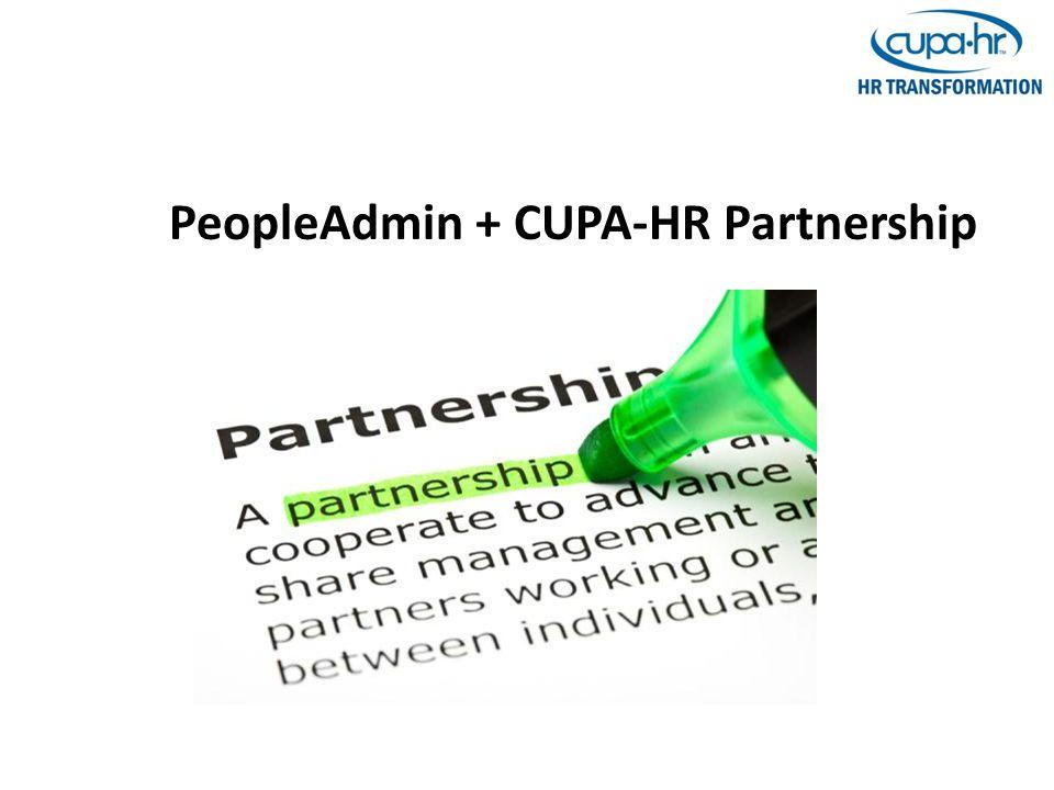 PeopleAdmin + CUPA-HR Partnership