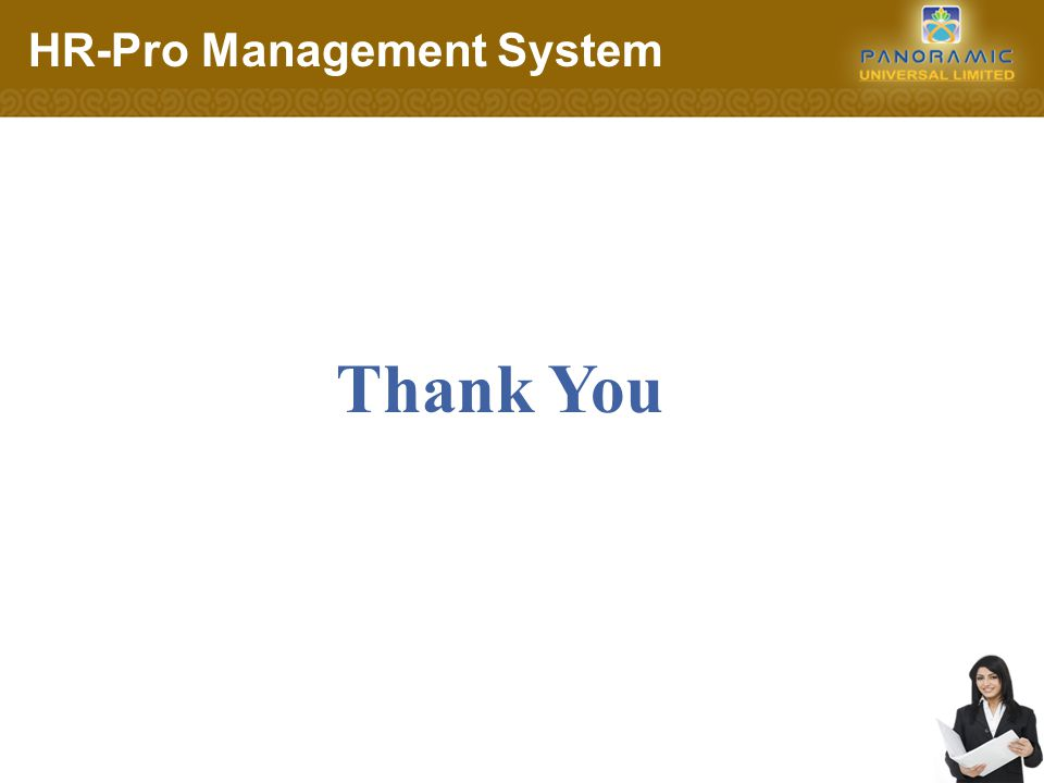 Thank You HR-Pro Management System
