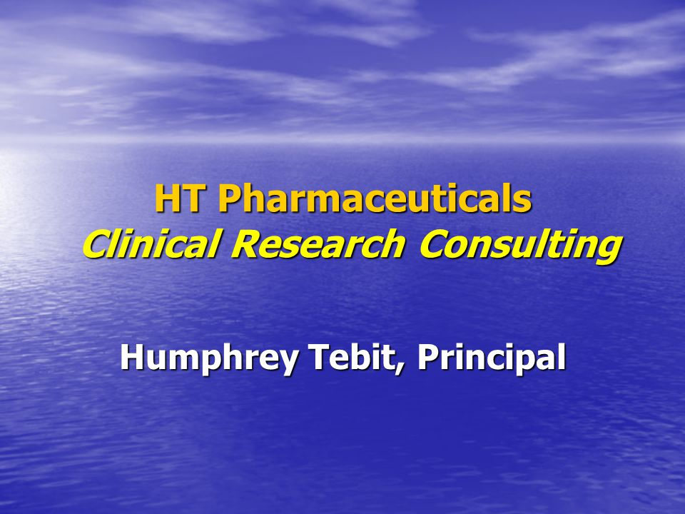 Copyright © 2009 All Rights Reserved HT Pharmaceuticals Current BE Study Three Pivotal Studies: Three Pivotal Studies: –Performed all Pilot Study activities –Saved company over $100K on each study by selecting the best CRO and the most cost effective study design –Monitored Phase I of clinical phase of study Writing controlled correspondence for the company on study requirements Writing controlled correspondence for the company on study requirements Liaison with European product manufacturer on documentation required for study protocol approval Liaison with European product manufacturer on documentation required for study protocol approval