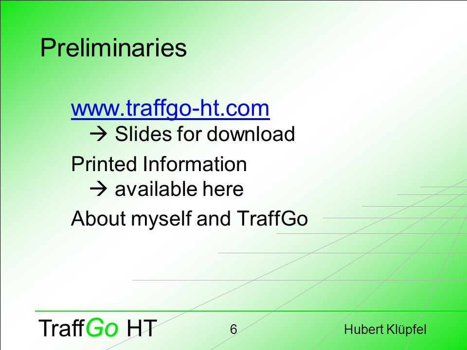 Hubert Klüpfel7 Go Traff Go HT Part I Guidelines for Evacuation Analysis