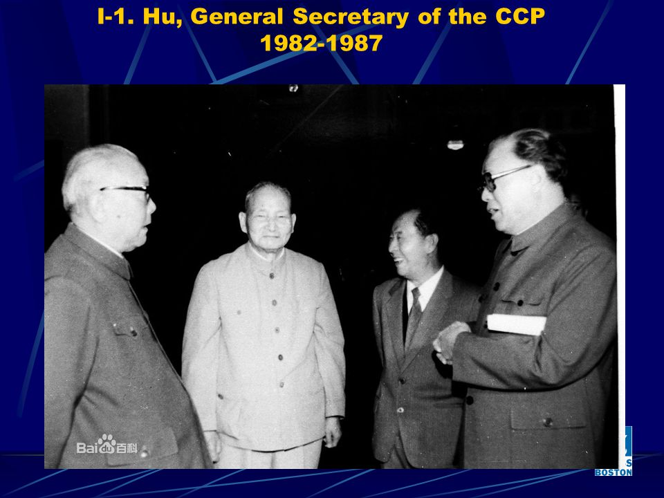 I-1. Hu, General Secretary of the CCP 1982-1987