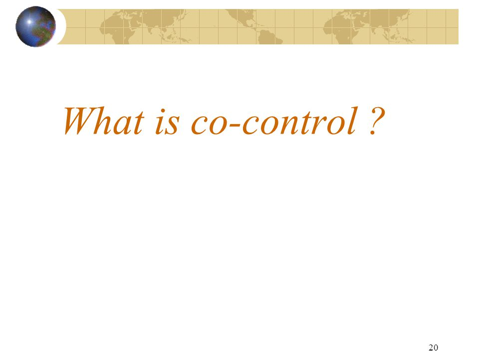 20 What is co-control