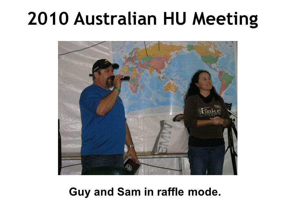 2010 Australian HU Meeting Guy and Sam in raffle mode.