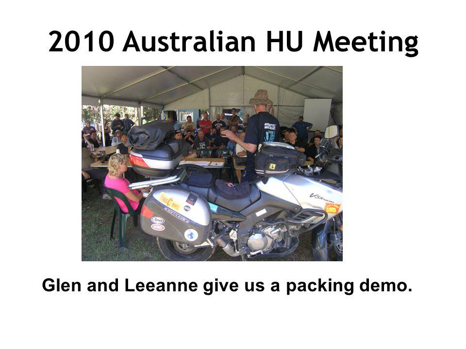 2010 Australian HU Meeting Glen and Leeanne give us a packing demo.