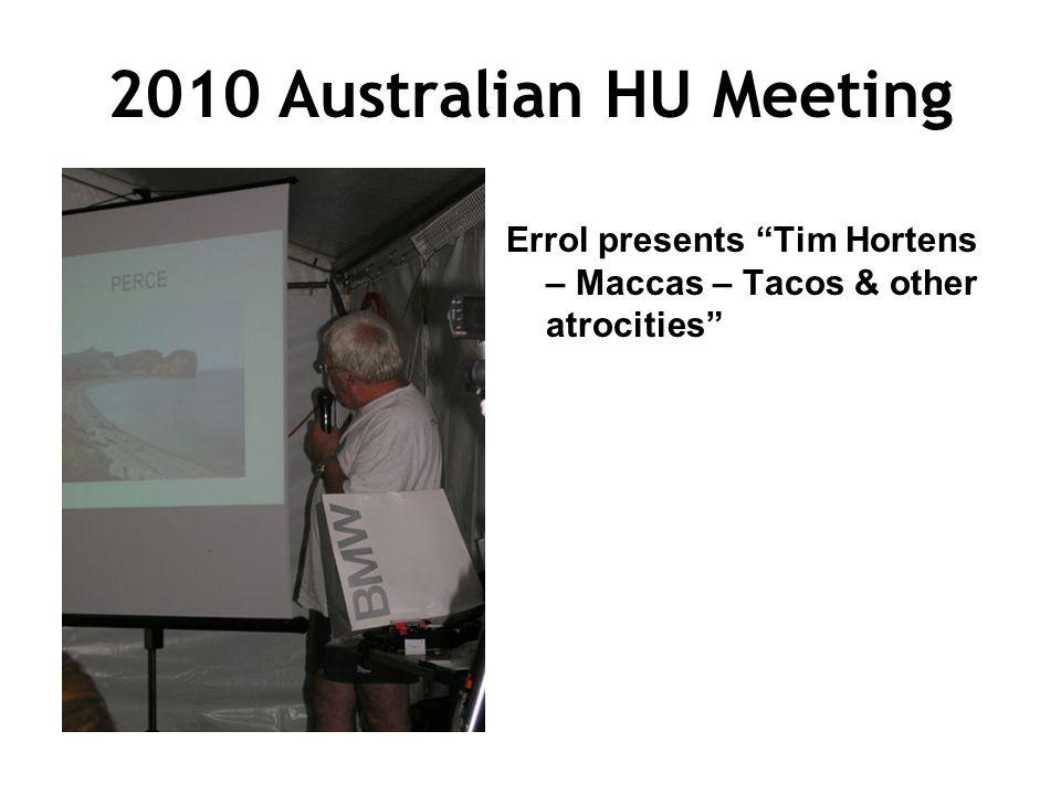 2010 Australian HU Meeting Errol presents Tim Hortens – Maccas – Tacos & other atrocities